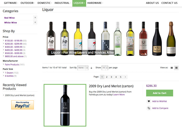 FaireBuys Magento Category Page