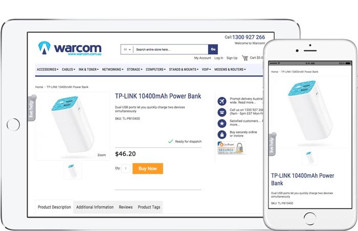 Warcom Product Page