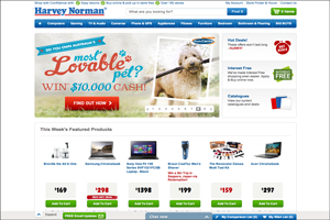 Harvey Norman Powerd by Magento